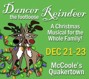 DANCER THE FOOTLOOSE REINDEER in McCoole's Arts & Events Place